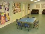Hall interior and facilities.