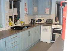 Hall interior and facilities. Kitchen.