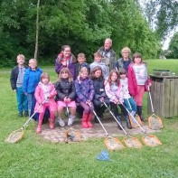 group of Young Carers Pond Dipping