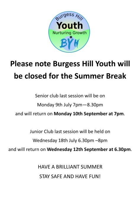 Summer Holiday Closure poster