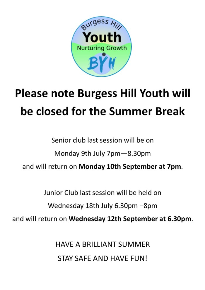 Summer Holiday Closure poster